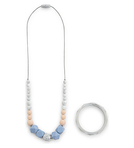 NIBBLING Teething necklace and bracelet set
