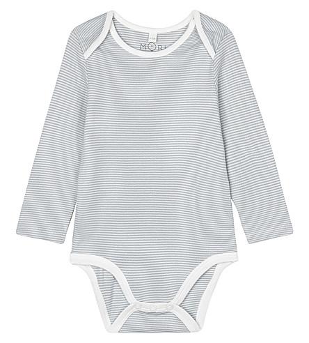 BABY MORI条纹长袖紧身衣裤 0-18 月 (蓝色 + 条纹