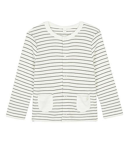 婴儿森衫羊毛衫0-18 月 (灰色条纹