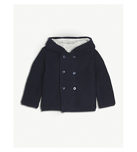 BABY MORI Knitted organic cotton cardigan 0-18 months (Party+navy