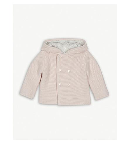 BABY MORI Knitted organic cotton cardigan 0-18 months (Newborn+pink