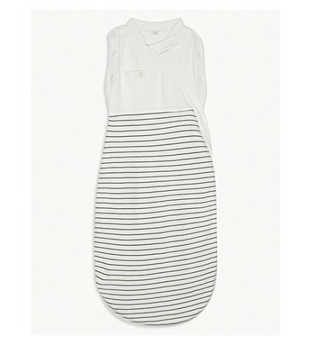 BABY MORI Striped swaddle bag 0-3 months (Grey+stripe
