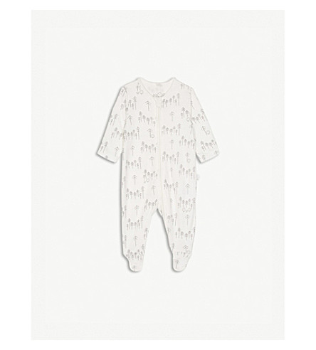 BABY MORI Forest print zipped sleepsuit 0-18 months (Forest+print