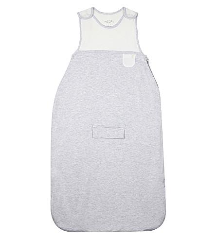 BABY MORI Heathered bamboo-cotton sleeping bag (Grey