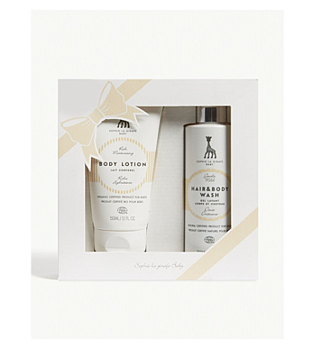 SOPHIE THE GIRAFFE Baby body lotion and hair and body wash set