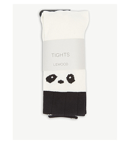 LIEWOOD Silje panda print organic cotton tights (Creme