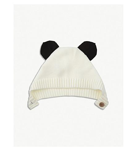LIEWOOD Panda knitted wool hat (Creme