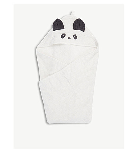 LIEWOOD Augusta panda organic cotton hooded towel (Creme
