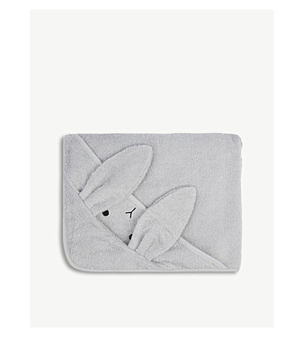 LIEWOOD Augusta rabbit organic cotton hooded towel (Dumbo+grey