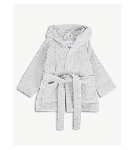 LIEWOOD Lily rabbit hood organic cotton terry dressing gown 1-4 years (Dumbo+grey