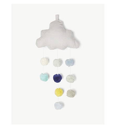 LIEWOOD Organic cotton cloud mobile (Dumbo+grey