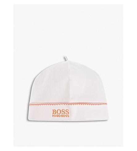 BOSS Logo cotton beanie (Pink