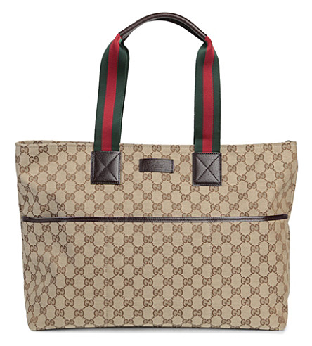 GUCCI Canvas changing bag (Beige