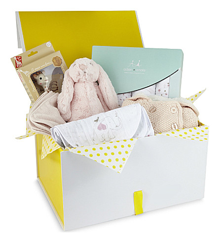 SELFRIDGES Large baby girl gift hamper (Multi