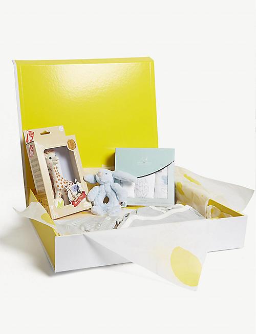Baby gifts first toys nursery kids selfridges selfridges baby boy small hamper negle Gallery