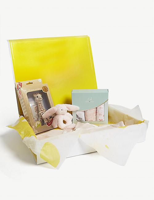 Baby gifts first toys nursery kids selfridges selfridges small baby girl hamper 3 6 months negle Choice Image