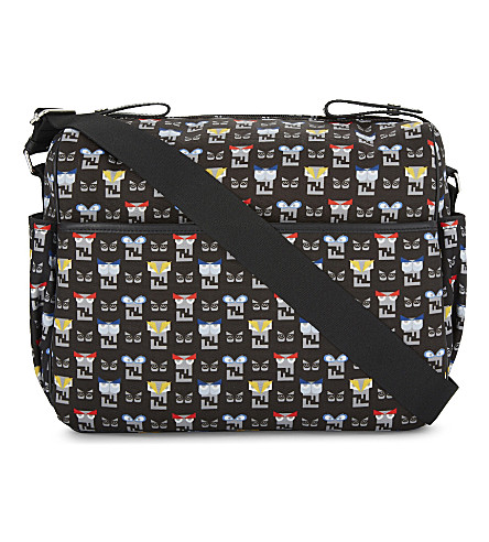 FENDI Graphic faces print baby-changing bag (Navy