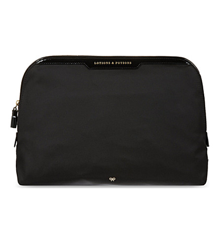 ANYA HINDMARCH Lotions and potions costmetics bag (Black