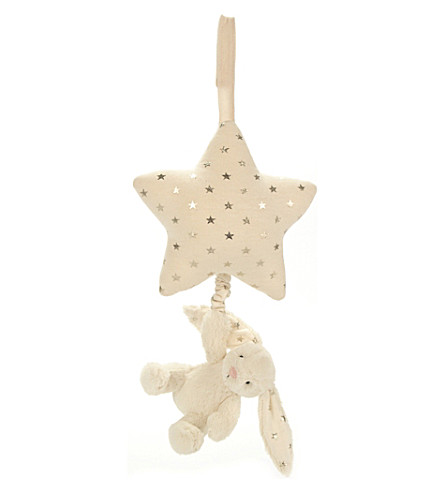 JELLYCAT Bashful Twinkle Bunny musical star pull