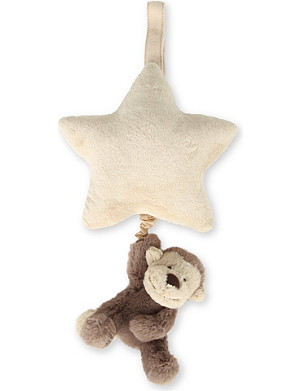 JELLYCAT Bashful Monkey musical star pull
