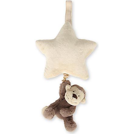 JELLYCAT Bashful Monkey musical star pull