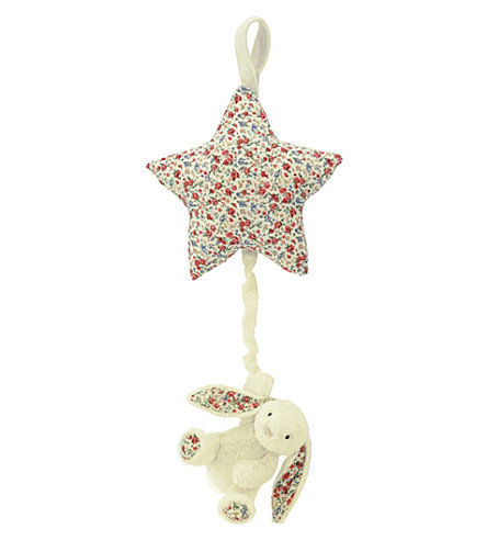 JELLYCAT Blossom bunny musical star pull (Cream