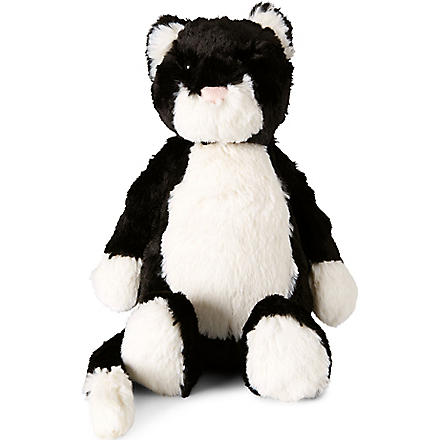 JELLYCAT Bashful medium black cat (Black / white