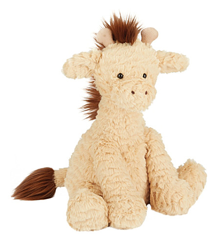 JELLYCAT Fuddlewuddle giraffe medium soft toy (Orange