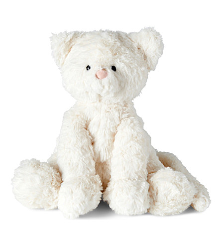 JELLYCAT Fuddlewuddle 小猫中等柔和玩具 23厘米 (奶油