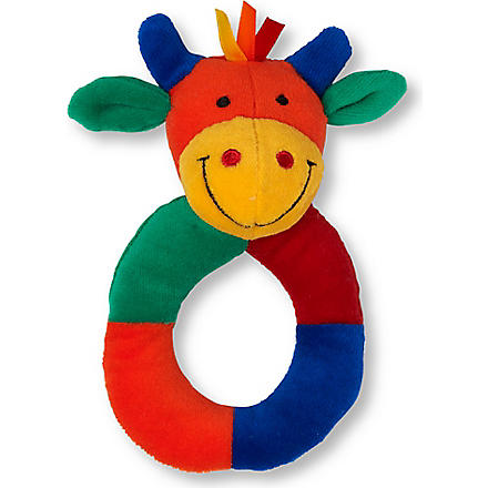 JELLYCAT Hoopy Harlequin cow ring rattle (Mul