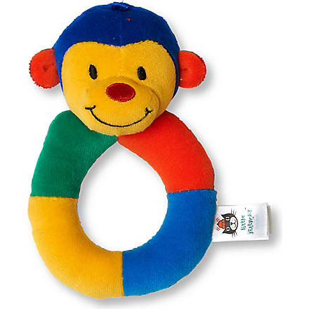 JELLYCAT Hoopy Harlequin monkey ring rattle (Mul