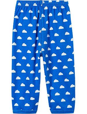 BOB & BLOSSOM Cloud-print trousers 0-12 months