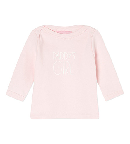 BOB & BLOSSOM Daddy's Girl t-shirt 0-18 months (Pale+pink