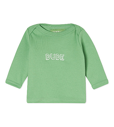 BOB & BLOSSOM Dude cotton top 0-18 months (Grass+green