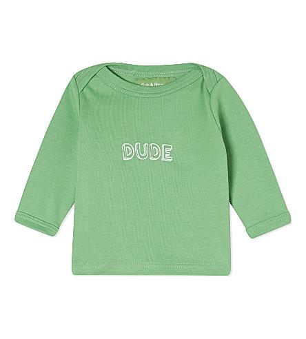 BOB & BLOSSOM Dude cotton top 0-18 months (Grass+green