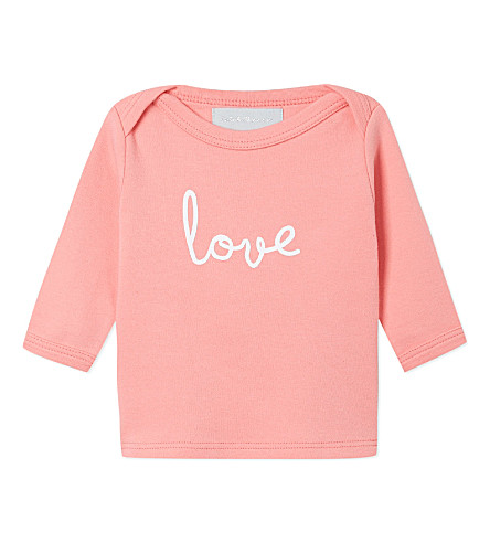 BOB & BLOSSOM Love t-shirt 0-18 months (Flamingo+pink+&+white