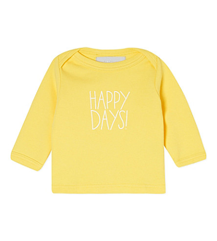 BOB & BLOSSOM Happy Days! t-shirt 0-18 months (Sunshine+yellow
