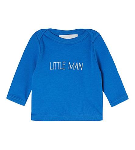 BOB & BLOSSOM Little man top 0-18 months (Ink+blue