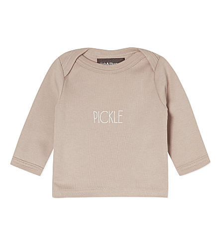 BOB & BLOSSOM Pickle cotton top (Putty