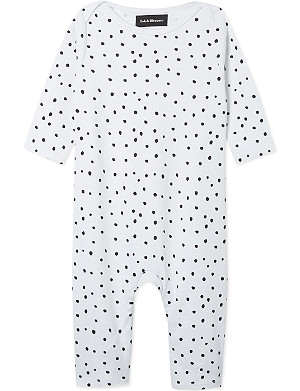 BOB & BLOSSOM Spotted sleepsuit 0-12 months