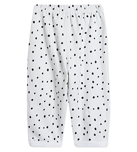 BOB & BLOSSOM Spotted trousers 0-12 months (White+&+black