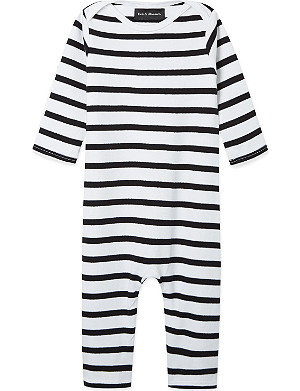 BOB & BLOSSOM Striped sleepsuit 0-12 months