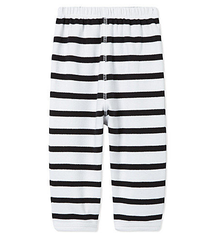BOB & BLOSSOM Striped cotton trousers 0-12 months (White+&+black