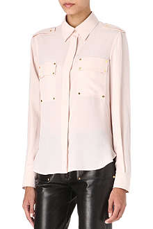 TOM FORD Screw-rivet silk shirt