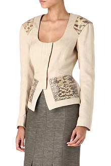 TOM FORD Snakeskin-trimmed jacket