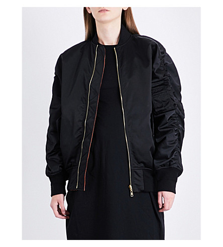 BALENCIAGA The Bomber satin jacket (Noir