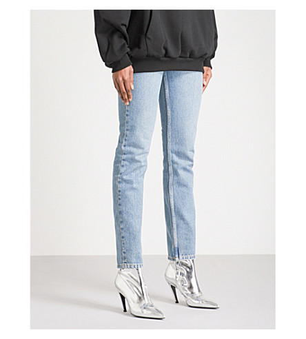 BALENCIAGA Skinny high-rise jeans (Bleach+brush+dirty