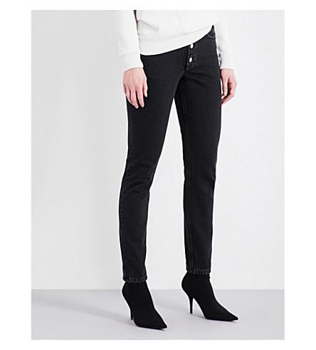 BALENCIAGA Tube straight high-rise jeans (Simple+stonewash