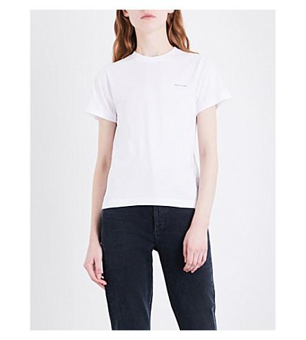 BALENCIAGA Logo-print cotton-jersey T-shirt (Blanc