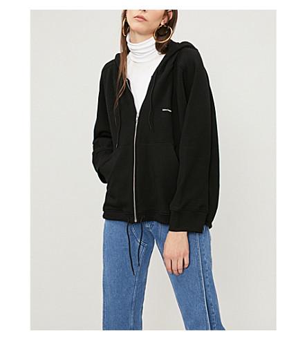BALENCIAGA Cocoon logo-print stretch-cotton hoody (Black